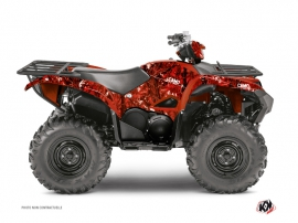 Kit Déco Quad Camo Yamaha 700-708 Grizzly Rouge