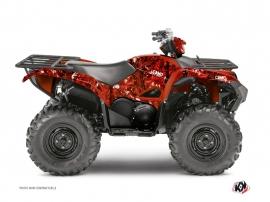 Kit Déco Quad Camo Yamaha 700-708 Grizzly Rouge