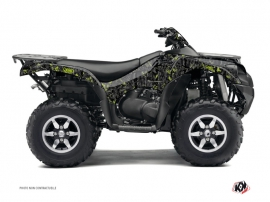 Kawasaki 750 KVF ATV Camo Graphic Kit Black Green