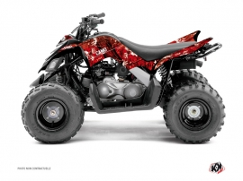 Yamaha 90 Raptor ATV Camo Graphic Kit Red
