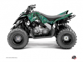 Yamaha 90 Raptor ATV Camo Graphic Kit Green