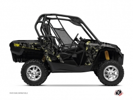 Can Am Commander UTV Camo Graphic Kit Black Yellow