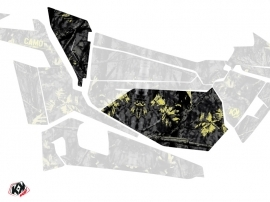 Graphic Kit Doors Low Dragonfire Camo UTV Polaris RZR 900S/1000/Turbo 2015-2017 Black Yellow