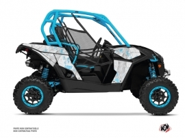 Can Am Maverick UTV Camo Graphic Kit White Blue
