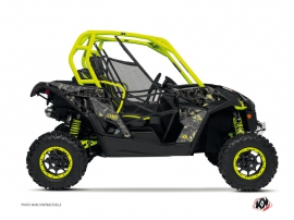 Can Am Maverick UTV Camo Graphic Kit Black Yellow