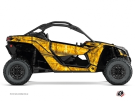 Can Am Maverick X3 UTV Camo Graphic Kit Yellow