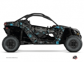 Can Am Maverick X3 UTV Camo Graphic Kit Black Blue