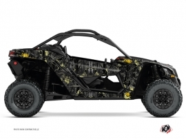 Can Am Maverick X3 UTV Camo Graphic Kit Black Yellow