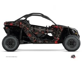 Can Am Maverick X3 UTV Camo Graphic Kit Black Red