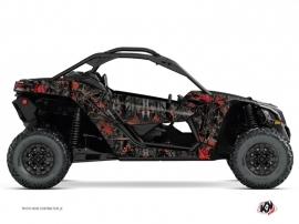 Kit Déco SSV Camo Can Am Maverick X3 Noir Rouge