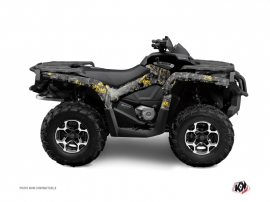 Can Am Outlander 1000 ATV Camo Graphic Kit Black Yellow