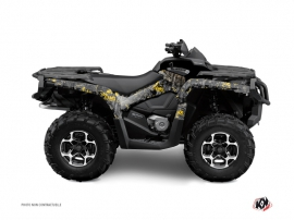 Can Am Outlander 400 XTP ATV Camo Graphic Kit Black Yellow