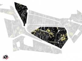 Kit Déco Portes Origine Basses Camo SSV Polaris RZR 900S/1000/Turbo 2015-2017 Noir Jaune