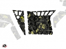 Graphic Kit Doors Suicide Pro Armor Camo UTV Polaris RZR 570/800/900 2008-2014 Black Yellow