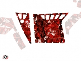 Graphic Kit Doors Suicide Pro Armor Camo UTV Polaris RZR 570/800/900 2008-2014 Red