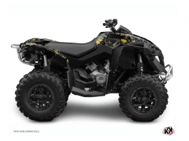 Can Am Renegade ATV Camo Graphic Kit Black Yellow