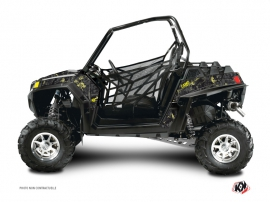 Polaris RZR 900 XP UTV Camo Graphic Kit Black Yellow