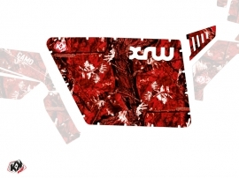 Graphic Kit Doors Standard XRW Camo UTV Polaris RZR 570/800/900 2008-2014 Red
