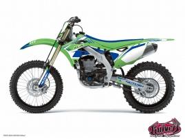 Kit Déco Moto Cross Chrono Kawasaki 125 KX Bleu