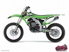 Kit Déco Moto Cross Chrono Kawasaki 125 KX Noir