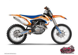 Kit Déco Moto Cross Chrono KTM EXC-EXCF Bleu