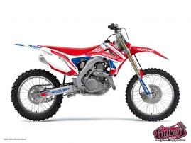 Kit Déco Moto Cross Chrono Honda 450 CRF Bleu