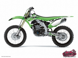 Kit Déco Moto Cross Chrono Kawasaki 450 KXF Noir