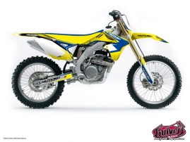 Suzuki 450 RMZ Dirt Bike Chrono Graphic Kit Blue
