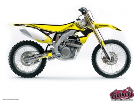 Suzuki 450 RMZ Dirt Bike Chrono Graphic Kit Black