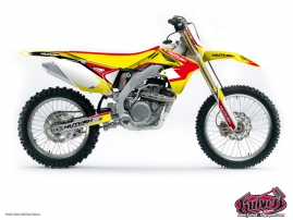 Kit Déco Moto Cross Chrono Suzuki 450 RMZ Rouge