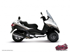 Kit Déco Maxiscoot Cooper Piaggio MP 3 Blanc Marron