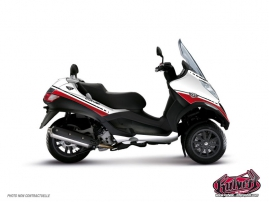 Kit Déco Maxiscoot Cooper Piaggio MP 3 Blanc Rouge