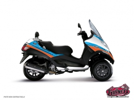 Kit Déco Maxiscoot Cooper Piaggio MP 3 Bleu Orange