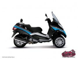 Kit Déco Maxiscoot Cooper Piaggio MP 3 Bleu
