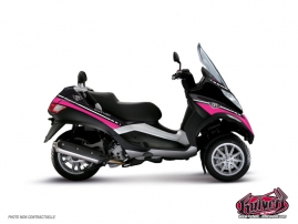Kit Déco Maxiscoot Cooper Piaggio MP 3 Rose