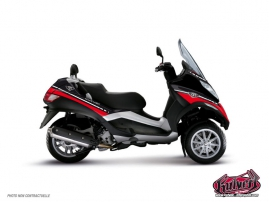 Kit Déco Maxiscoot Cooper Piaggio MP 3 Rouge