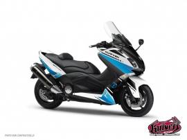 Kit Déco Maxiscoot Cooper Yamaha TMAX 500 Blanc Bleu