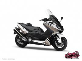 Kit Déco Maxiscoot Cooper Yamaha TMAX 500 Blanc Marron