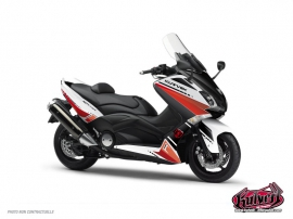 Kit Déco Maxiscoot Cooper Yamaha TMAX 500 Blanc Rouge