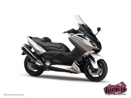 Kit Déco Maxiscooter Cooper Yamaha TMAX 530 Blanc Marron