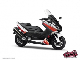 Kit Déco Maxiscooter Cooper Yamaha TMAX 530 Blanc Rouge