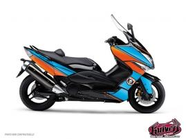 Kit Déco Maxiscooter Cooper Yamaha TMAX 530 Bleu Orange