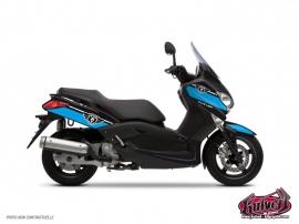 Kit Déco Maxiscooter Cooper Yamaha XMAX 125 Bleu