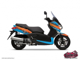 Kit Déco Maxiscooter Cooper Yamaha XMAX 125 Bleu Orange