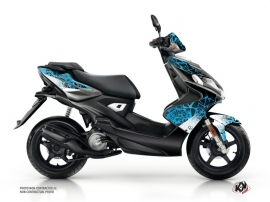 Yamaha Aerox Scooter Cosmic Graphic Kit Blue