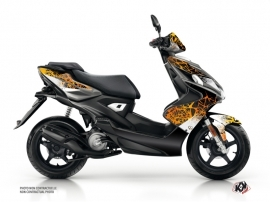 Yamaha Aerox Scooter Cosmic Graphic Kit Orange