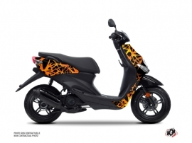 MBK Ovetto Scooter Cosmic Graphic Kit Orange
