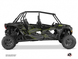 Polaris RZR 1000 4 doors UTV Cruiser Graphic Kit Neon Grey