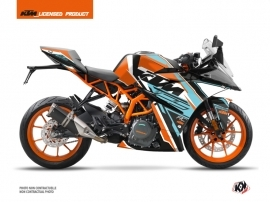 KTM 125 RC Street Bike Crux Graphic Kit Orange Blue