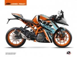 Kit Déco Moto Crux KTM 390 RC Orange Bleu